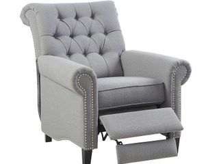 Zak Recliner Chair Gray  Accent Chairs