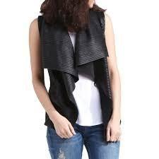 Genuine lambskin leather Waterfall Vest  Retail 157 99