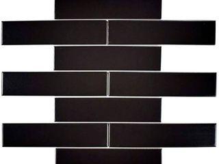 Merola Tile Metro Soho Subway Matte Black 1 3 4 in  x 7 3 4 in  Porcelain Floor and Wall Tile  1 sq  ft    pack  Matte Black low Sheen 4 pkg