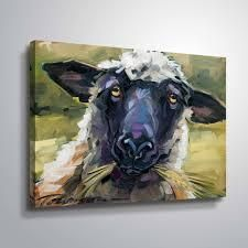 Bless ewe Gallery Wrapped Canvas