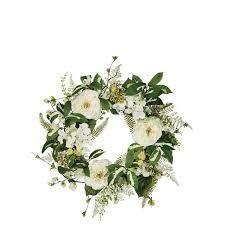Peony  Hydrangea    Sweet Pea Wreath