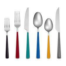 Fiesta Merengue 24 piece Flatware Set with Steak Knives  Service for 4