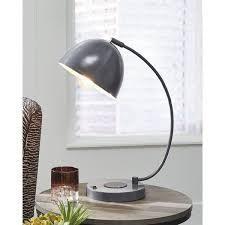 Austbeck Contemporary Gray Metal Desk lamp   15 W x 8 D x 18 H  Retail 85 99