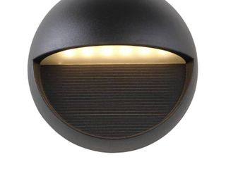Orbe 6 25  Outdoor Metal Glass Integrated lED Sconce by JONATHAN Y