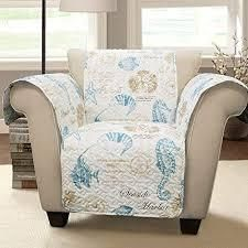 Harbor life Furniture Protector Blue Taupe Single Arm Chair