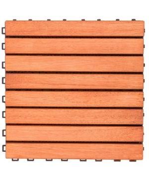 Interlocking 8 slat Design Eucalyptus Deck Tile  Box of 10  Retail 93 99