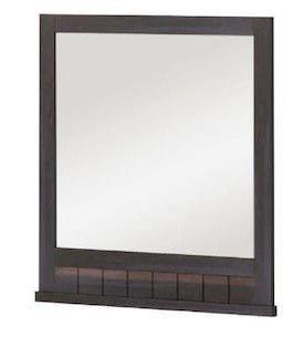 Morriston 26 in Brown Rectangular Bathroom Mirror