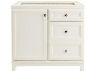 Diamond FreshFit Calhoun 36 in White Bathroom Vanity Cabinet