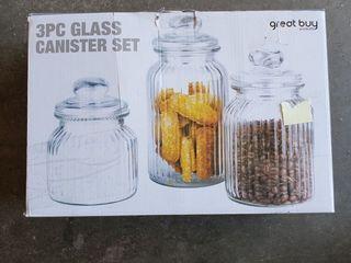 2pc Glass Jar Set