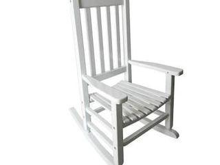 Kid s Wooded Rocking Chair Furniture Garden Treasures Childrenas White