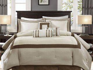 Madison Park Abigail 7 piece Comforter Set  Retail 124 98