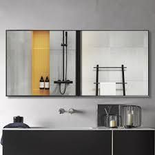 neutypechic Modern large Black Rectangle Wall Mirrors for Bathroom Vanity Mirror   Retail 121 00