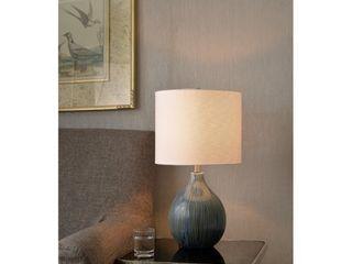 Sadie 22 25  Distressed Blue Ceramic Accent lamp  Retail 85 99