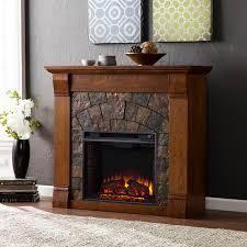 Carbon loft Fleming Antique Oak Electric Fireplace only no insert Retail 513 49