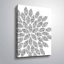 Silver Orchid  Silver Flower  Gallery Wrapped Canvas set