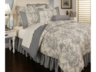 PCHF Country Toile Blue 6 piece Comforter Set  Retail 683 10