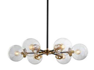 Caleb 6 light 28  Brass Cluster Pendant  Black Brass by JONATHAN Y  Retail 214 99