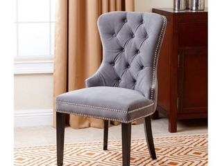 Abbyson Versailles Grey Tufted Dining Chair  Retail 255 99