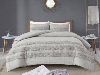 Madison Park Joelie Cotton Seersucker Comforter Set  Retail 93 48