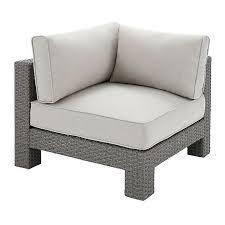 light grey corner section seat