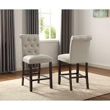 Copper Grove Solitude Tufted Armless Dining Chairs  Set of 2    Retail 183 00 tan