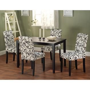 Simple living Sophia black dining square table only
