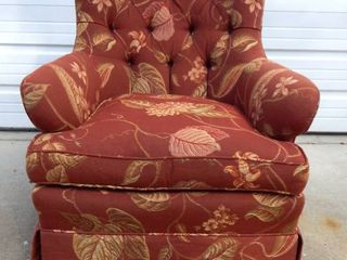 Vintage Swivel Base Fabric Rocking Chair