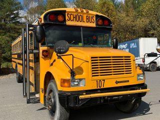 School Buses, Vans, Grader, Salt Spreader