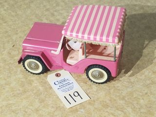 Tonka pink Jeep with surrey on top