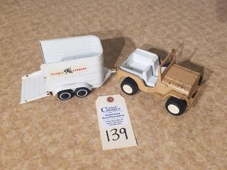 Tan Tonka small Jeep
