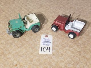 Tonka mini green Jeep and red Jeep