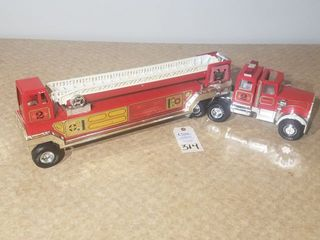 Tonka Semi Fire Dept ladder Truck