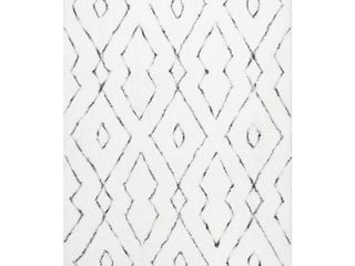 Nuloom Beaulah Shaggy 5  x 8  Area Rug in White