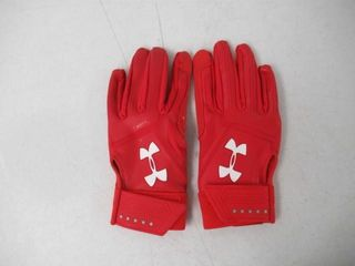 Under Armour UA Heater Batting Gloves  Red