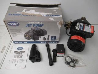 Used  Superior Pump 94715 3 4 HP Convertible Jet