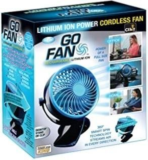 Go Fan Rechargeable lithium Ion Fan That Cools You