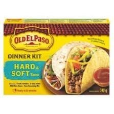 Old El Paso Hard   Soft Taco Dinner Kit  Includes