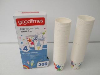 As Is  Goodtimes Bathroom Paper Cups  3oz  200ct