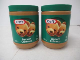 2   As Is  Kraft Smooth Peanut Butter  2Kg
