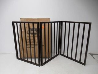 Used  Foldable  Free Standing Wooden Pet Gate