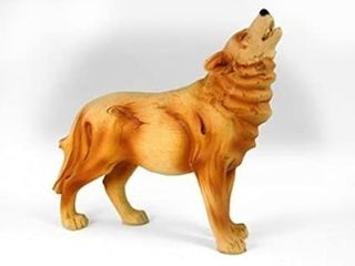 StealStreet MME 932 6  Howling Wolf Carving Faux