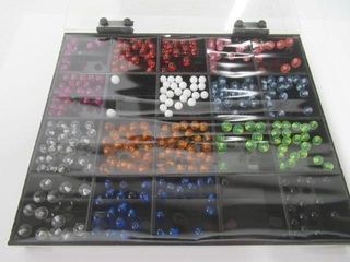 Tray Of Assorted Acrylic Barbell Balls