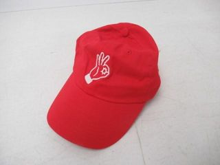 KC Baseball Cap  Red Hand Signal  One Size Fits