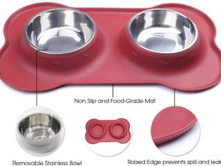 Vivaglory 13 5oz Dog Bowls   Stainless Steel Water