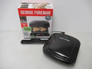 As Is  George Foreman 4 Serving Removable Plate