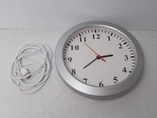 As Is  JH 9  Wall Clock With Glass Face And