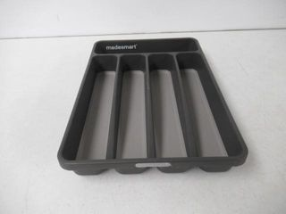 Madesmart 5 Compartment Silverware Tray  Grey