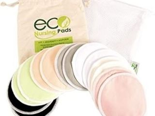 Contoured Washable Reusable Bamboo Nursing Pads