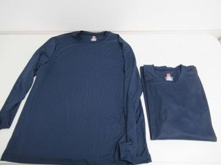 2 Pack Hanes Men s large long Sleeve Cool Dri
