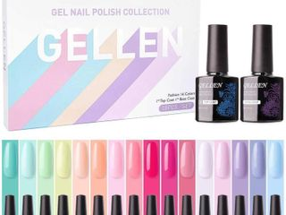Gellen 16 Colors Gel Nail Polish Set With Top Base